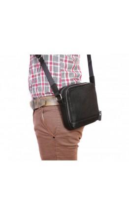 Маленькая черная мужская сумка через плечо 7311kt