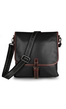 Модная сумка на плечо формата А4 черного цвета 77312