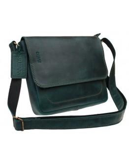 Зеленая небольшая кожаная женская сумка 731251W-SKE