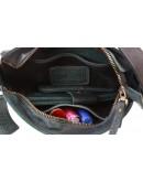 Фотография Зеленая небольшая кожаная женская сумка 731251W-SKE