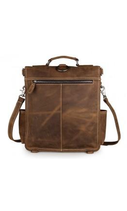 Брутальный рюкзак мужской из лошадиной кожи 77316