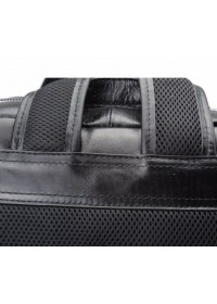 Кожаный чёрный мужской рюкзак 73173