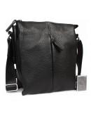 Фотография Черная кожаная мужская плечевая сумка 7317kt