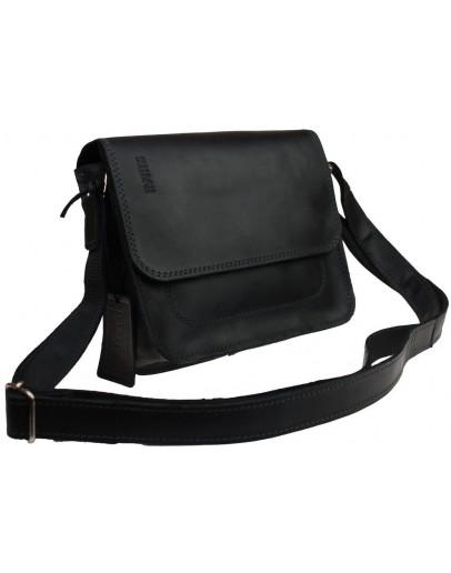 Фотография Маленькая женская кожаная сумка черного цвета 73225W-SKE
