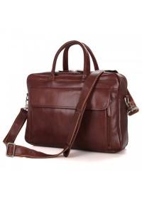 Универсальная коричневая мужская кожаная сумка 77333c