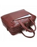Фотография Универсальная коричневая мужская кожаная сумка 77333c