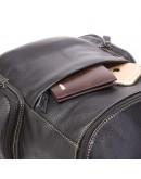Фотография Черный небольшой кожаный рюкзак 7336A