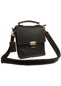 Коричневая мужская деловая кожаная сумка 734100S-SKE