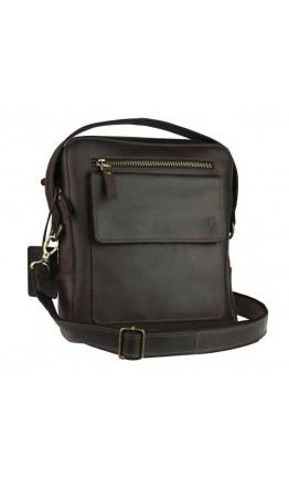 Кожаная коричневая мужская сумка планшет 734105S-SKE