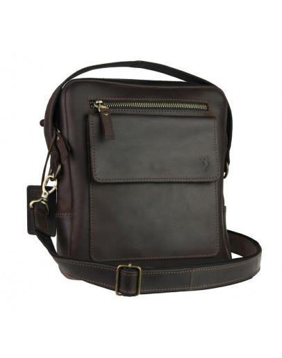 Фотография Кожаная коричневая мужская сумка планшет 734105S-SKE