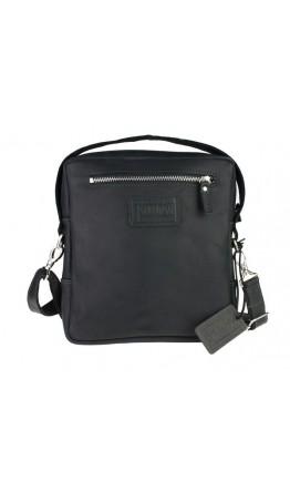 Кожаная черная мужская сумка на плечо 734109S-1-SKE
