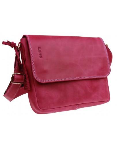 Фотография Розовая небольшая кожаная женская сумка 73425W-SKE