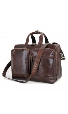 Большая мужская кожаная сумка, для командировок 7343C