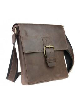 Мужская сумка кожаная на плечо с клапаном 73445S-1-SKE