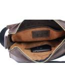 Фотография Мужская сумка кожаная на плечо с клапаном 73445S-1-SKE