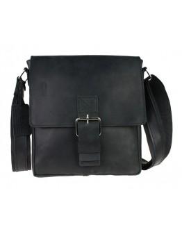 Черная кожаная мужская сумка с клапаном 73448S-1-SKE