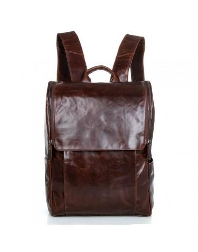 Фотография Рюкзак кожаный коричневый мужской 7344C