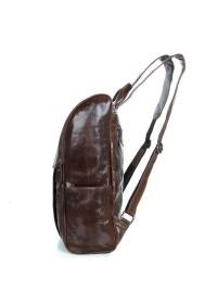 Рюкзак кожаный коричневый мужской 7344C