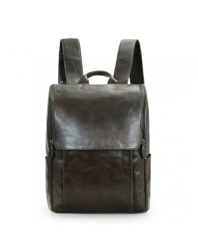 Мужской кожаный рюкзак, темно-коричневый 7344J