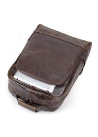 Рюкзак мужской коричневый из натуральной кожи 7347C