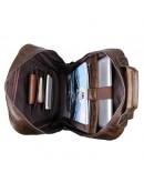 Фотография Рюкзак мужской коричневый из натуральной кожи 7347C