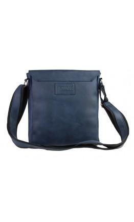 Синяя кожаная мужская сумка через плечо 73486S-1-SKE