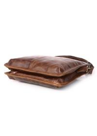 Удобная коричневая сумка на плечо без клапана 77351