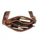 Фотография Удобная коричневая сумка на плечо без клапана 77351