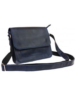 Маленькая синяя кожаная женская сумка 73525W-SKE