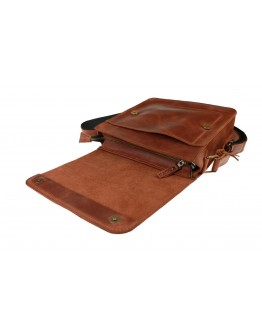 Светло-коричневая удобная женская кожаная сумка 73532W-SKE