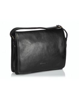 Чёрная сумка формата документов А4 из кожи Katana k736106-1
