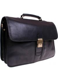 Шикарный солидный чёрный мужской портфель Katana k736804-1