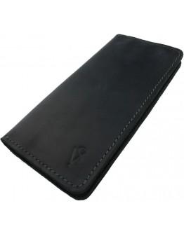 Большой кожаный мужской черный кошелек 73810P-SKE