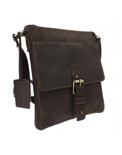 Фотография Кожаная мужская сумка на плечо-планшетка 73825S-SKE