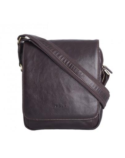 Фотография Компактная коричневая сумка мужская на плечо Katana k739112-2