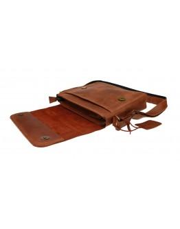 Светло - коричневая женская кожаная сумка 7392511-SKE