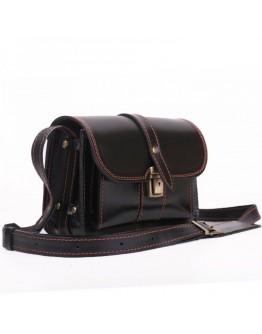 Сумка на плечо черного цвета кожаная Manufatto 74-visitka black