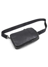 Рюкзак мужской на одну шлейку чёрный 74001a