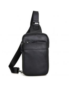 Чёрный удобный мужской рюкзак на одну шлейку 74002a-1