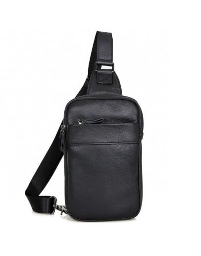 Фотография Чёрный удобный мужской рюкзак на одну шлейку 74002a-1