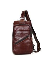 Коричневый рюкзак на плечо кожаный мужской 74003