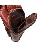Фотография Коричневый рюкзак на плечо кожаный мужской 74003