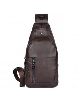 Коричневый мужской рюкзак, на одну шлейку 74004c