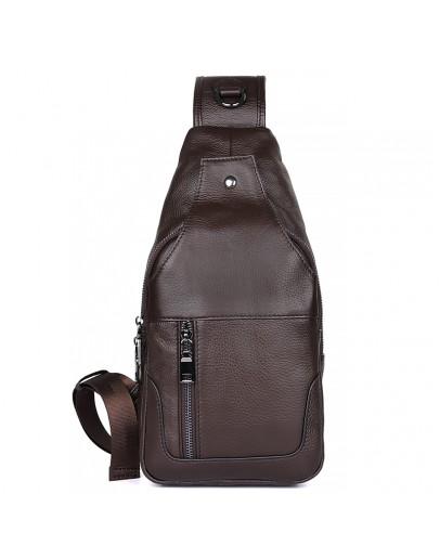 Фотография Коричневый мужской рюкзак, на одну шлейку 74004c