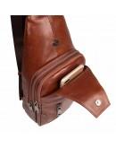 Фотография Кожаный мужской слинг рыже-коричневого цвета 74004X