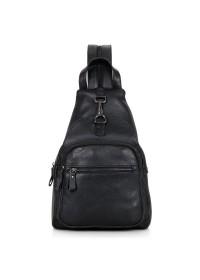 Удобный чёрный рюкзак на сдвоенной шлейке 74005a
