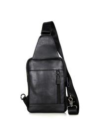 Черный кожаный рюкзак мужской - сумка 74006a