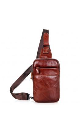 Коричневая сумка на плечо на одну шлейку 74002b