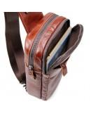 Фотография Коричневая сумка на плечо на одну шлейку 74002b