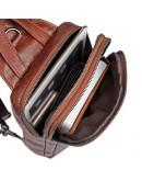Фотография Коричневый рюкзак для мужчины на плечо 74006c